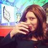 I'm drinking Angel's Soul in this photo. [a Manhattan w/spicy red honey garnish]
