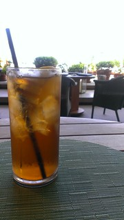 Iced Tea at the Sunrise Pool
