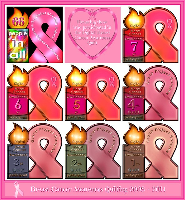 Honoring those who participated in the Digital Breast Cancer Awareness Quilt
