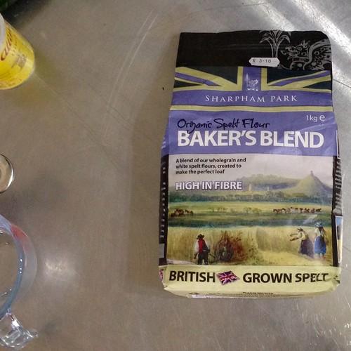 Organic spelt flour. Bakers blend. Flour. Food.