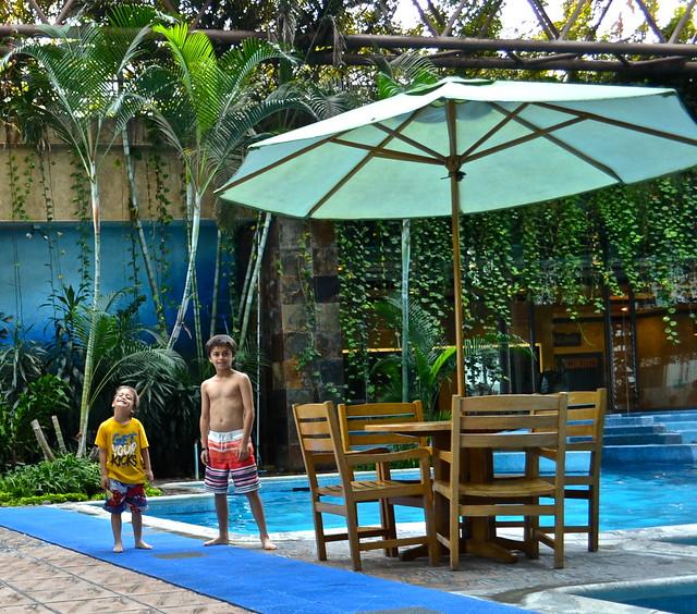 pool time, grand tikal futura hotel, Guatemala city