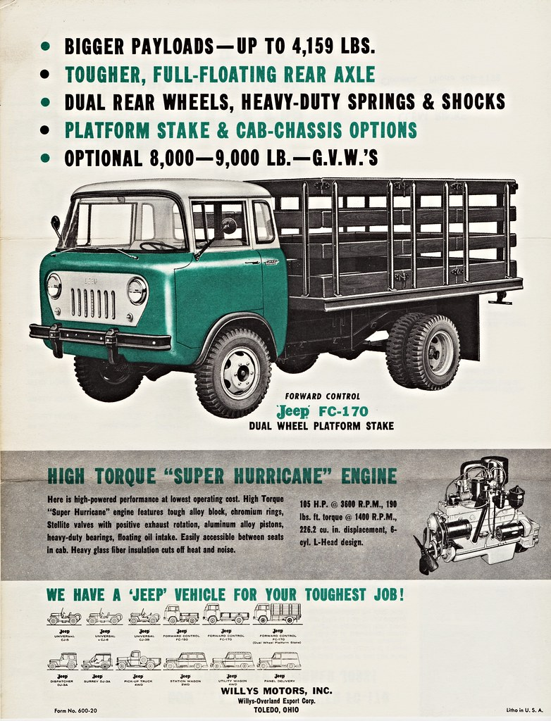 Interesting Flickr Photos Tagged Fc170 Picssr Willys Fc 170 Jeep Truck Beds 1960 Dual Wheel Platform Stake