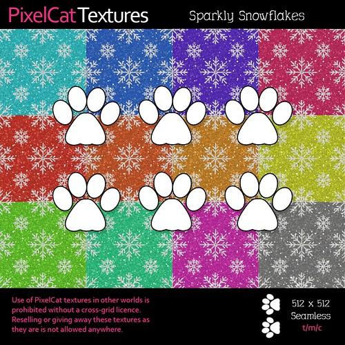PixelCat Textures - Sparkly Snowflakes
