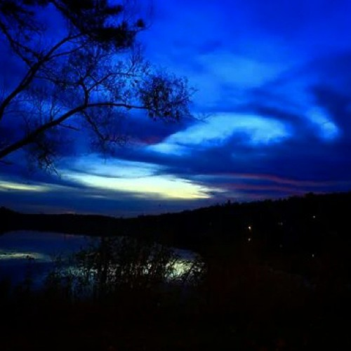 blue trees sunset sky lake nature night clouds landscape evening dusk country weatherphotography uploaded:by=instagram