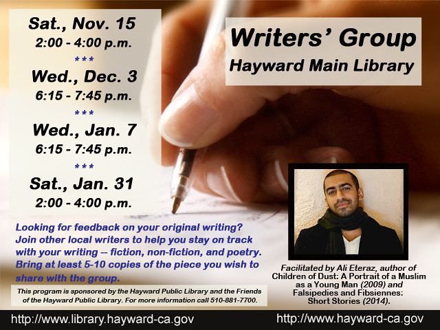 Hayward Public Library - Peer Writers' Group with Ali Eteraz