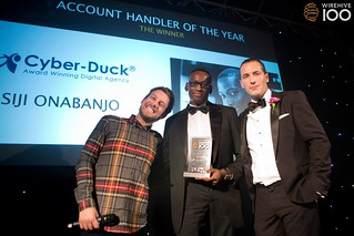 Strategy Manager Siji Onabanjo wins the Account Handler of the Year at the Wirehive 100 Awards