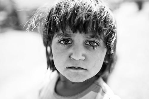 The eyes of Yazidi's desperation