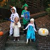 Happy Halloween from Olaf, Link, Obi-Wan Kenobi, and Elsa. #halloween
