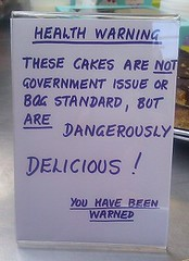 Cake warning