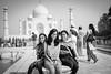 At the Taj Mahal.