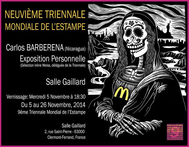 Carlos Barberena exhibiting at Salle Gaillard