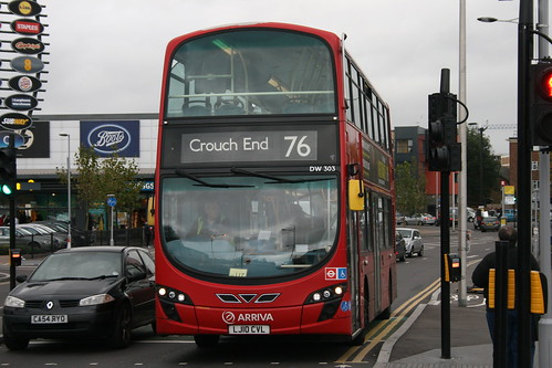 Arriva London DW303 on Route 76, Tottenham Hale