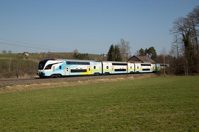 Westbahn KISS 4110 auf Testfahrt bei Sulgen