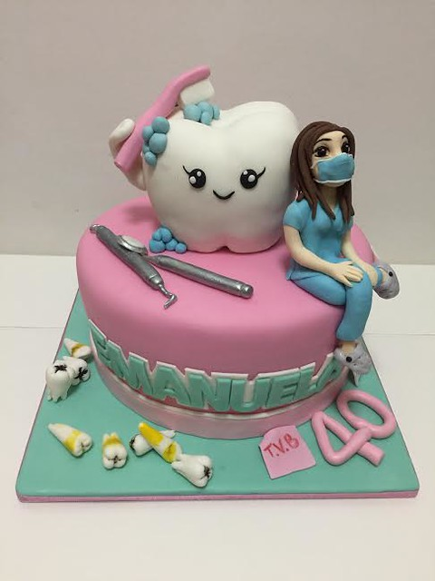 Cake For Dentist By Rosa Marfella Of La Vet Creativa