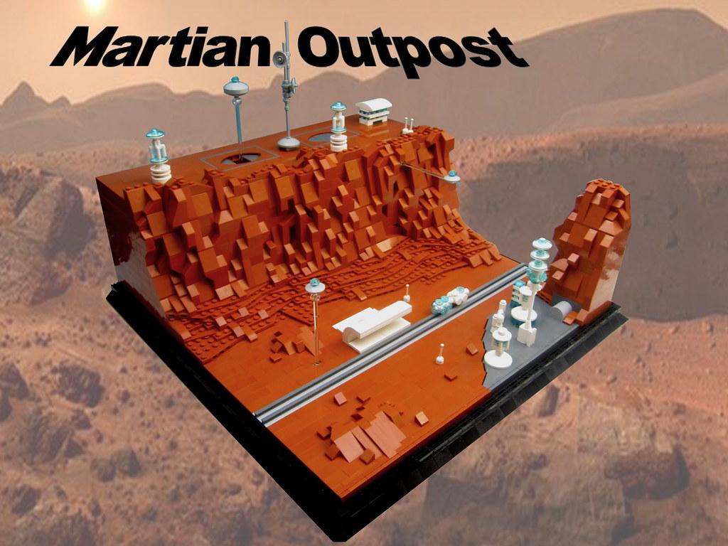 Martian Outpost (custom built Lego model)