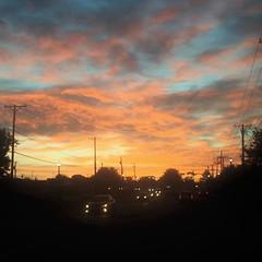 This morning's sky was beautiful! #sunrise #visitfrisco #friscotx #sky #colors #clouds #pattylebedhessphotos #iphoneography #iphone6