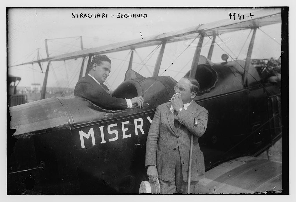 Segurola, Stracciari and plane (LOC)