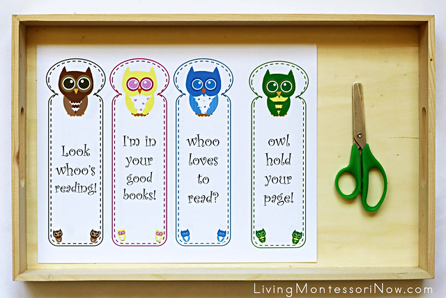 Owl Paper Cutting Tray