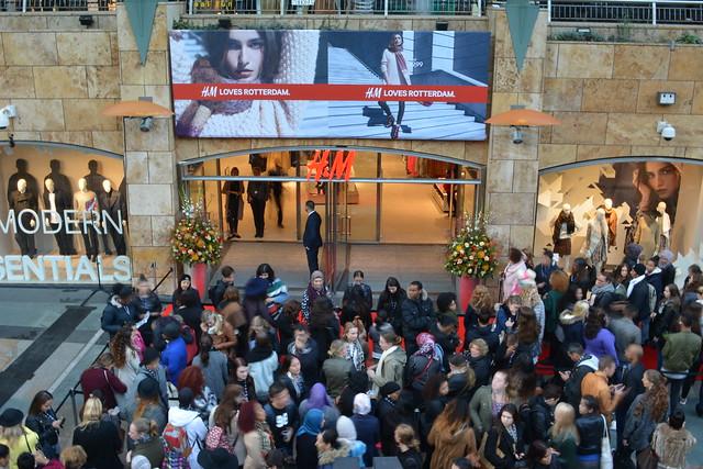 H&M Rotterdam opening