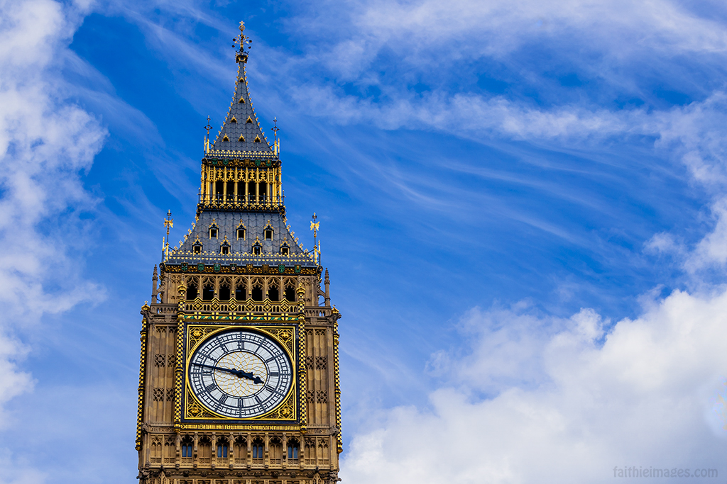 blue skies and the Big Ben