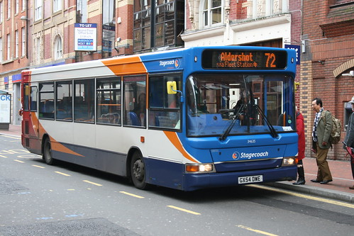 Stagecoach-Fleet Buzz 34635 on Route 72, Reading Station
