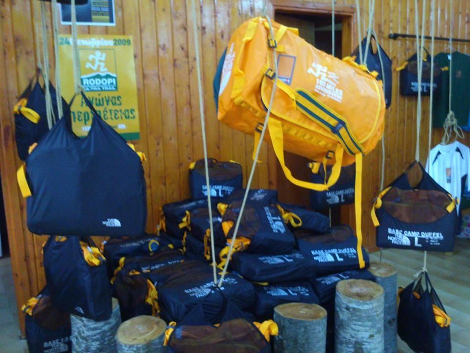 To Base Camp Duffel 50L της The North Face περίμενε όλους τους αθλητές με την παραλαβή του bib τους!