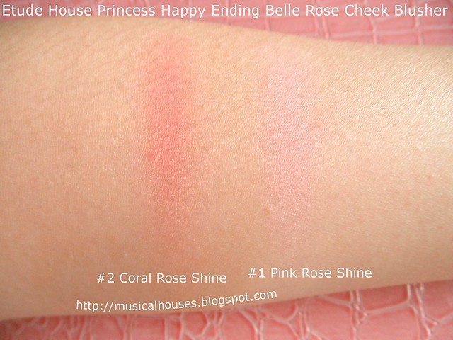 Etude House Disney Princesses Belle Rose Blusher Swatches