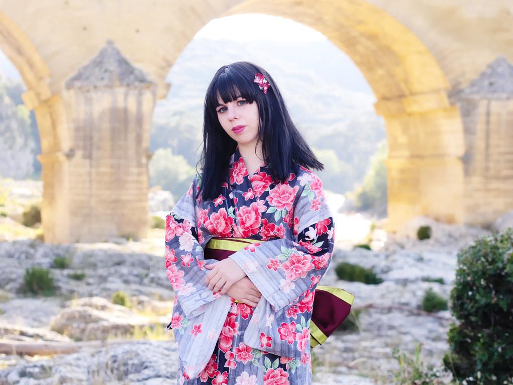 related image - Shooting Kimono - Leia-Chan - Pont du Gard -2014-09-28- P1940503