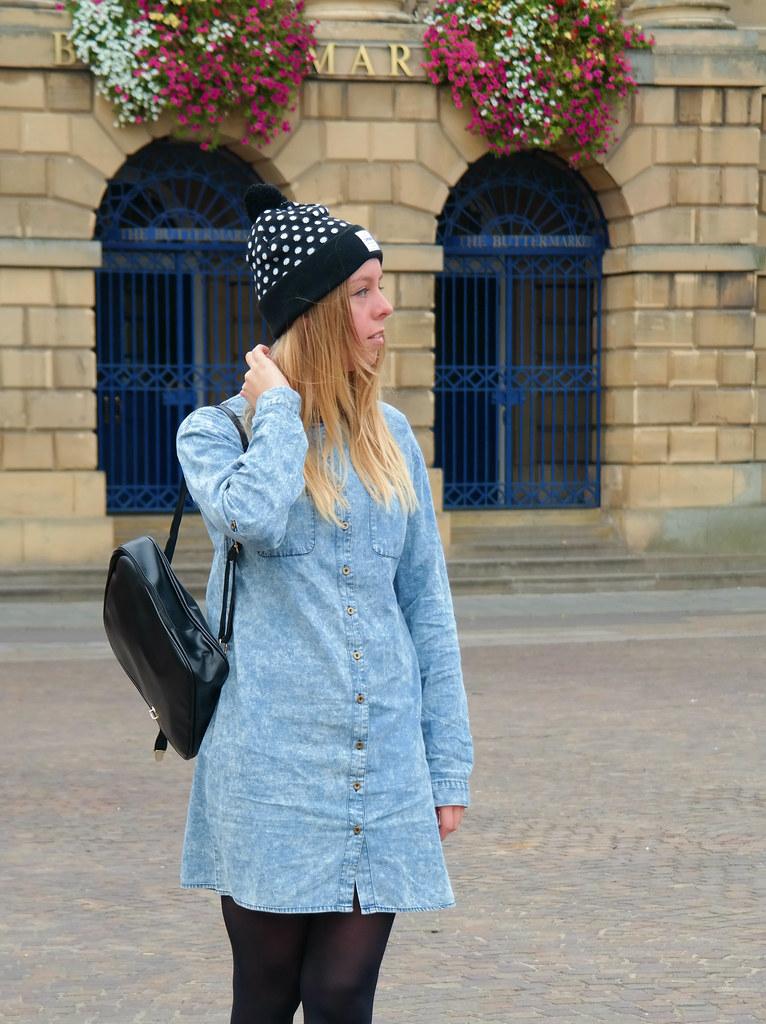 Acid wash t-shirt dress   Jazzpad fashion blogger