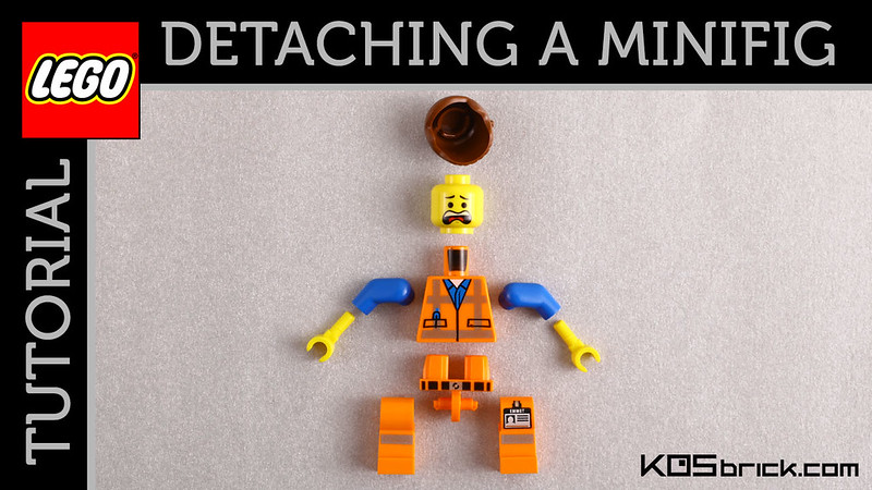 Detaching a Lego Minifigure