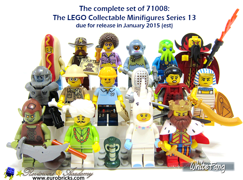 Lego Minifigure Series 13 Complete Set 71008 Figures People Toys Collectable Kid