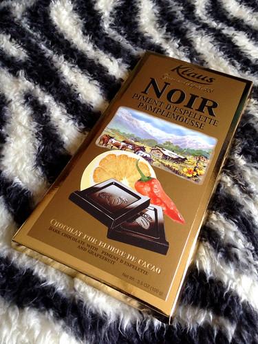 チョコレート。 ざぼんと唐辛子味?