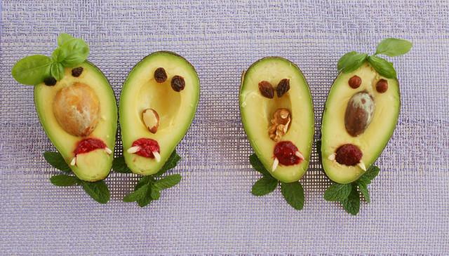 Foto de los aguacates para la receta de guacamole