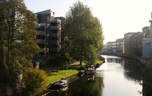 Autumnal walk along the River Wensum, Norwich