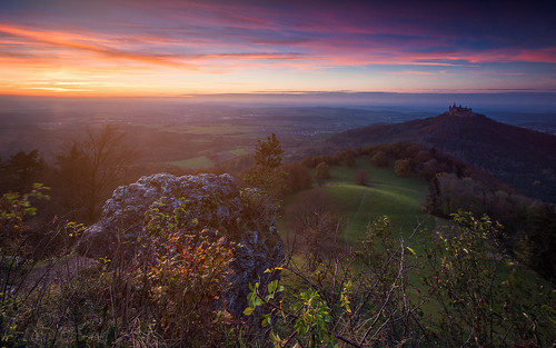 autumn sunset sonnenuntergang herbst schloss schwäbischealb abendlicht hechingen hohenzollern burghohenzollern albstadt