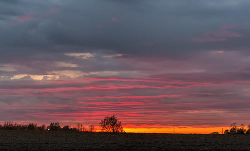 sunset sky color clouds canon illinois october midwest troy 2014 eosm