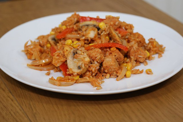 Quorn & Corn Stir Fry with Rice