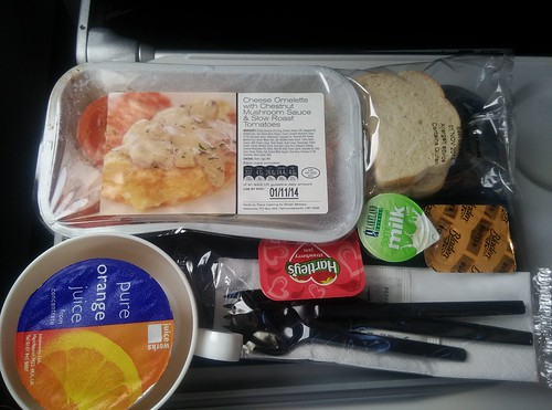 british ariways economy class breakfast