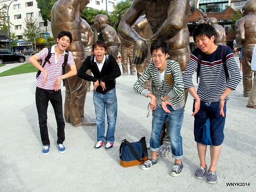 "Jap @ ""A-maze-ing Laughter"" by Yue Minjun"