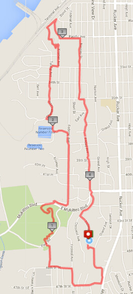 Today's awesome walk, 4.46 miles in 1:34 (362ft gain)