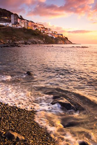 españa costa sol canon mar agua playa amanecer nubes dslr olas rocas dorado piedras orilla espuma haz ceuta 60d horadorada sarchal carloslarios