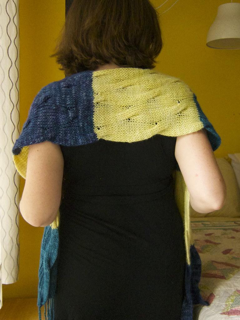 Mikhaela's Blue Green Bowerbird Wrap