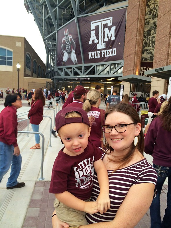 Arena and Andrew at Aggie Game