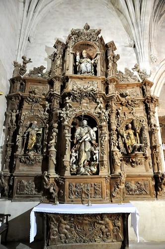 Arenillas de Riopisuerga (Burgos). Iglesia de Santa María. Retablo rococó de San José