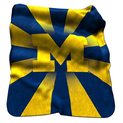 Michigan Wolverines NCAA Raschel Blanket