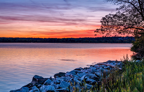 Potomac River Sunset in Alexandria HDR by Geoff Livingston