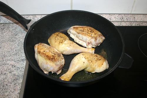 24 - Hähnchen scharf anbraten / Sear chicken
