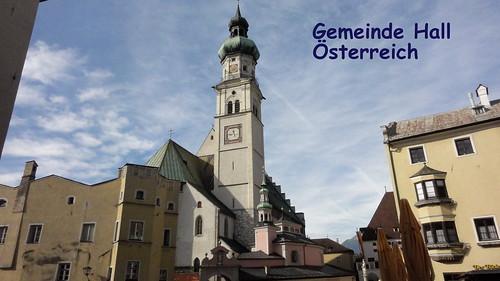 2014-N821 Österreich Gemeinde Hall Text