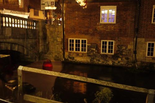 Reflections Through a Pub Window