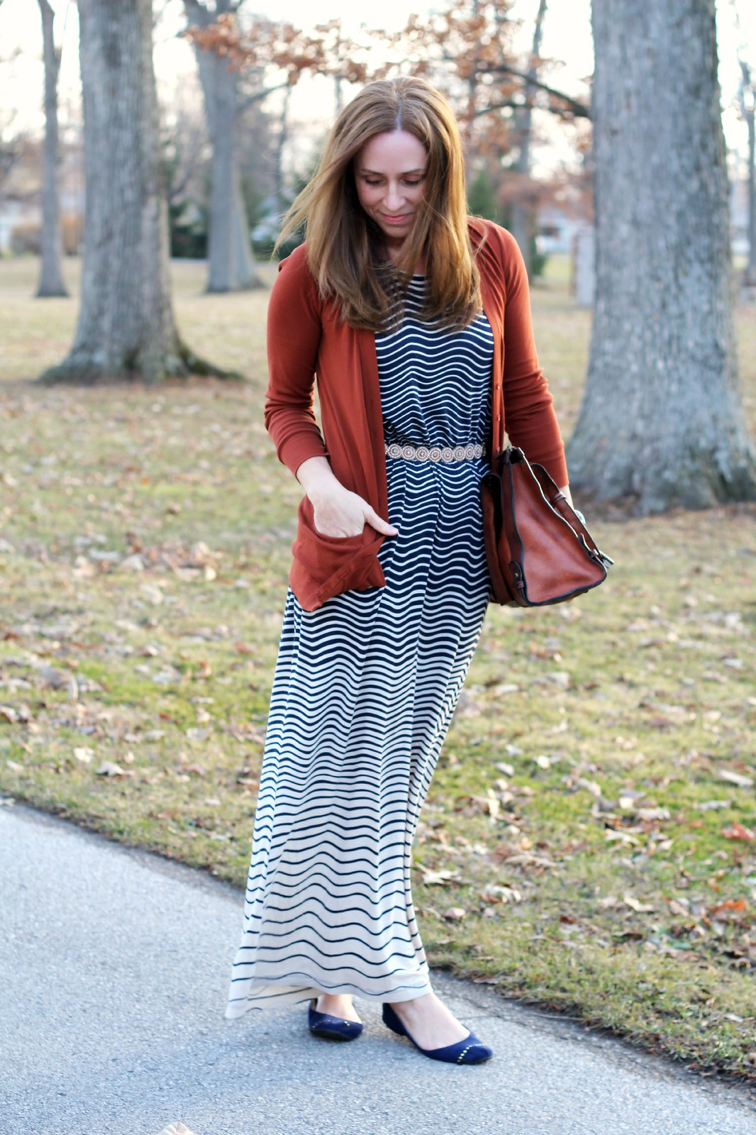 cute modest fall outfit via Kristina J blog